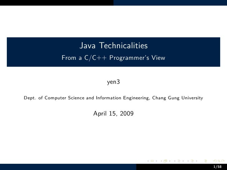 Java Technicalities