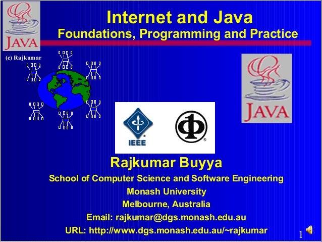 1 (c) Rajkumar Rajkumar Buyya School of Computer Science and Software Engineering Monash University Melbourne, Australia E...