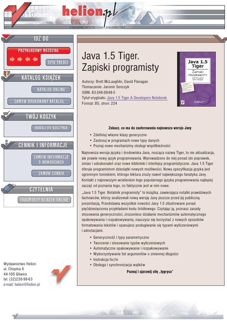 Java 1.5 Tiger. Zapiski programisty