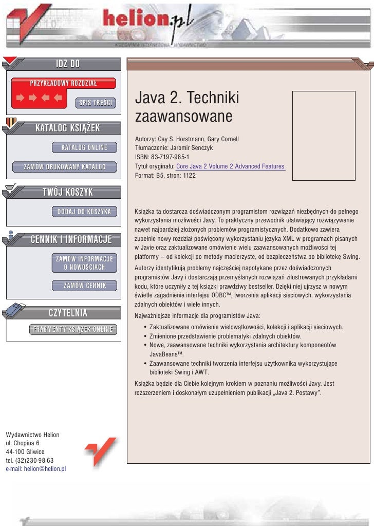 Java 2. Techniki zaawansowane