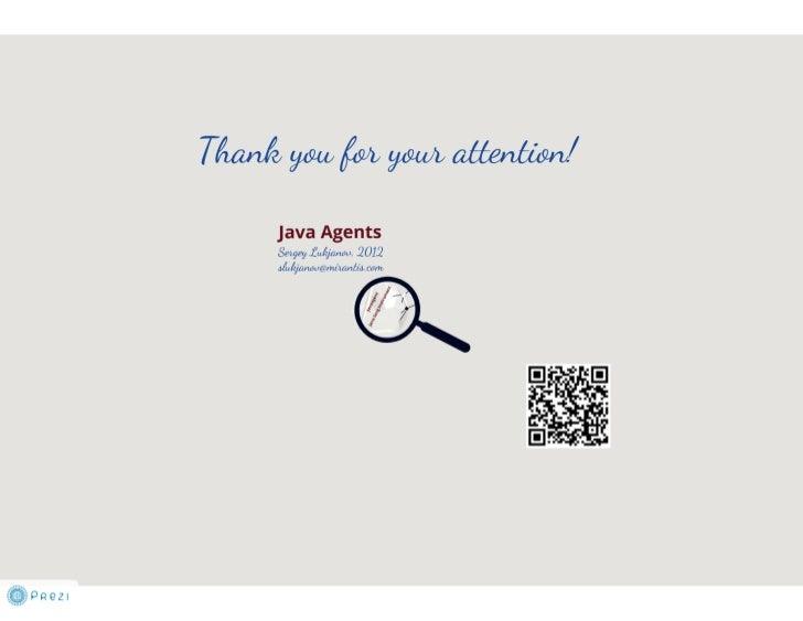 Java Agents and Instrumentation techtalk