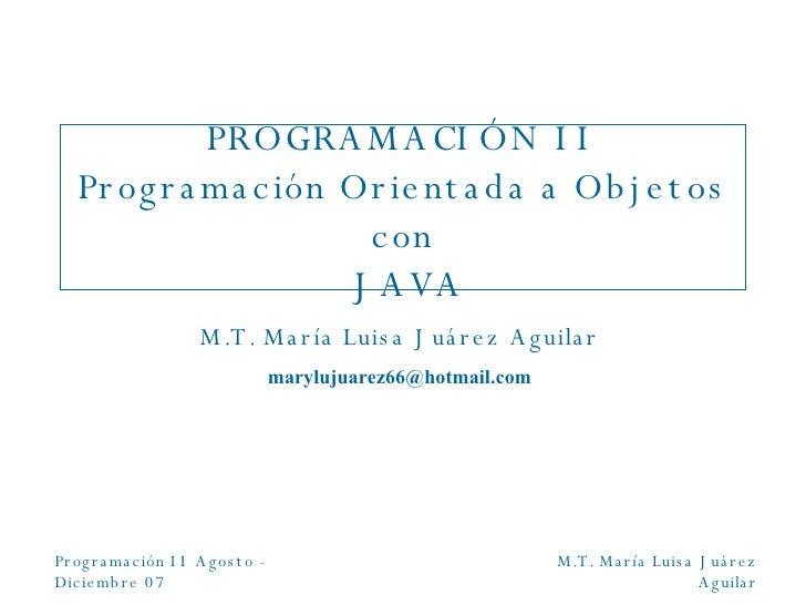 Java Ago Dic07