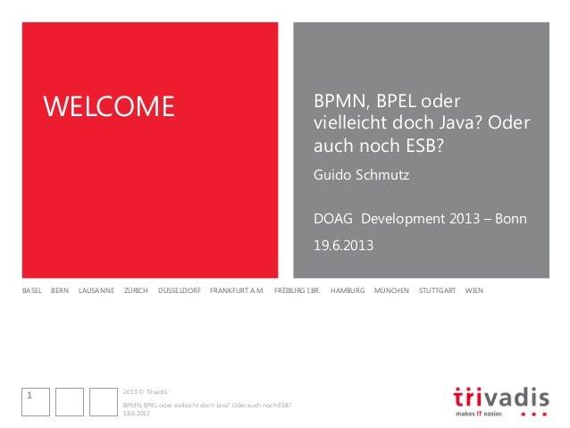 BPMN, BPEL oder vielleicht doch Java? Oder auch noch ESB?