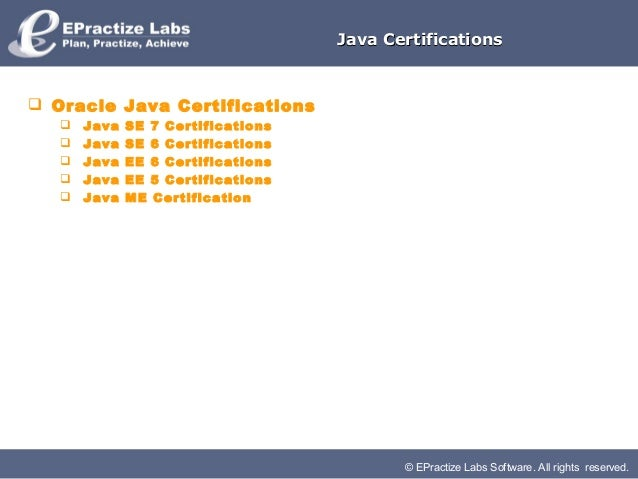 Java certifications