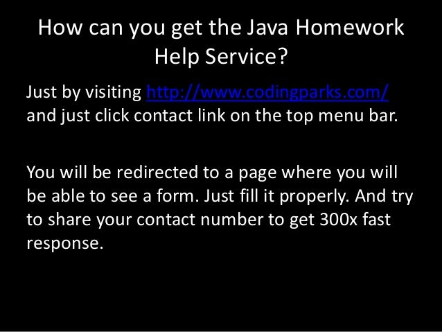 Help with java homework