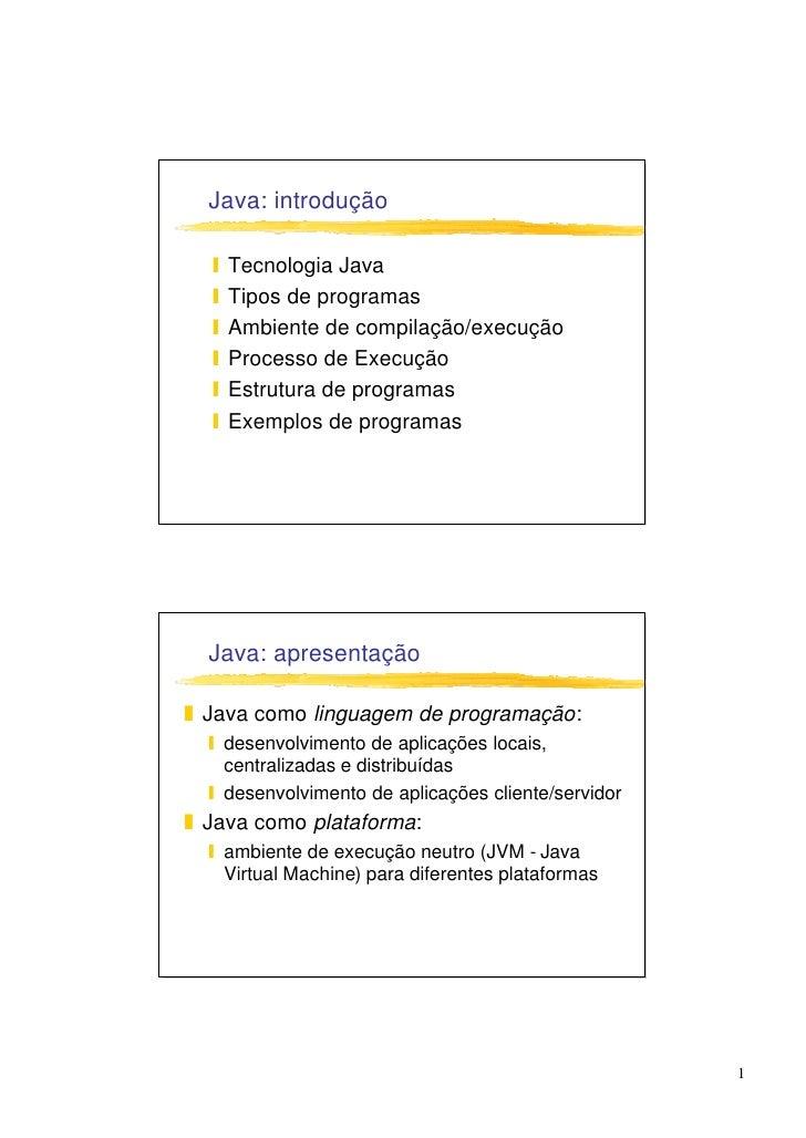Java: Introduction