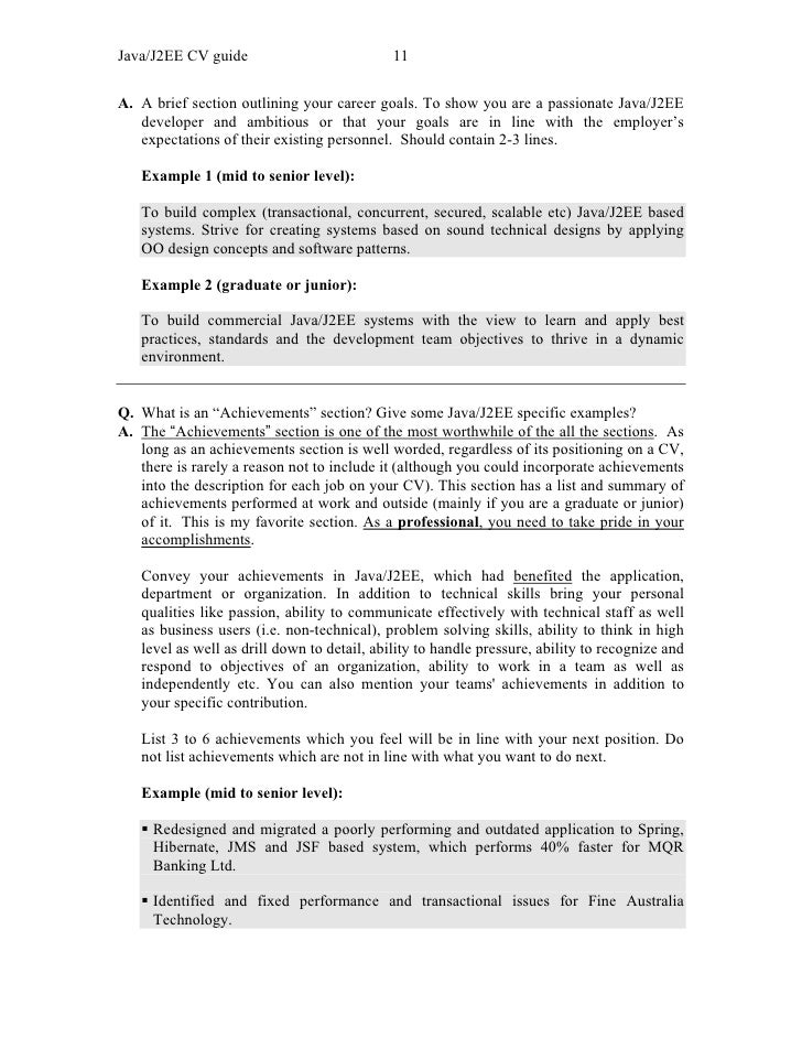 sample java resume resume cv cover letter