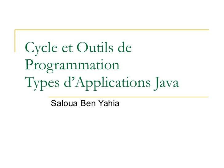 Cycle et Outils de Programmation Types d'Applications Java Saloua Ben Yahia