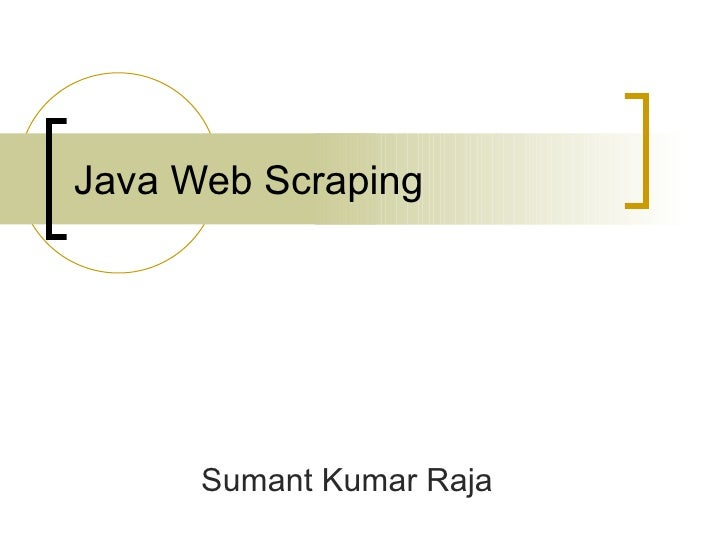 Java Web Scraping