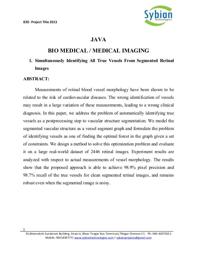 Java Titles & abstracts 2013-2014