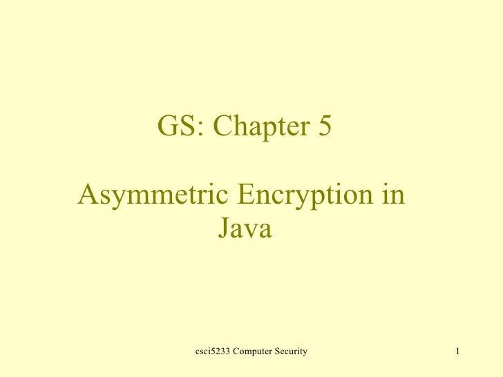 Java Asymmetric