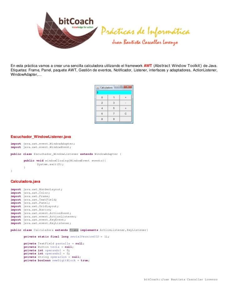 Java AWT Calculadora