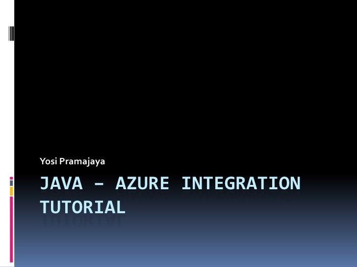 Java – azure integration