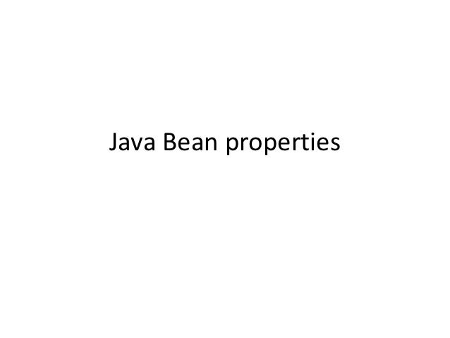 Javabeanproperties