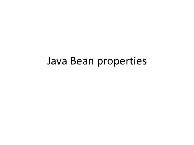 Javabeanproperties