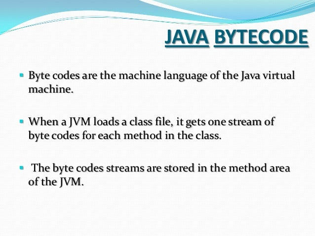 byte code instructions are