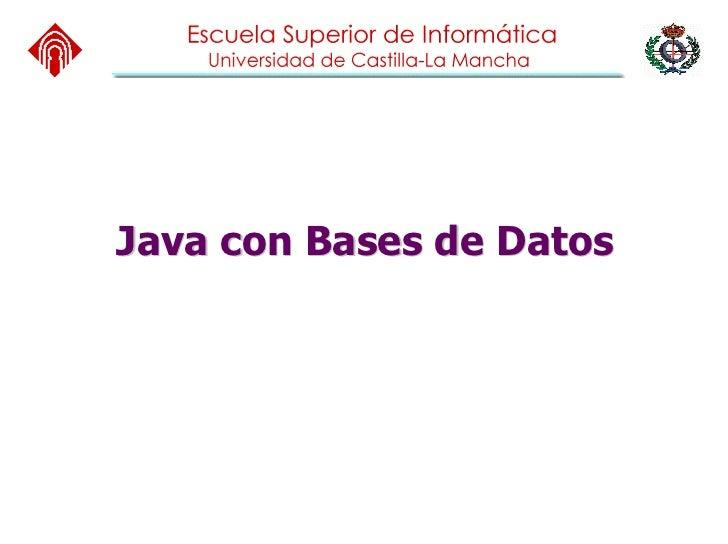 Java con Bases de Datos