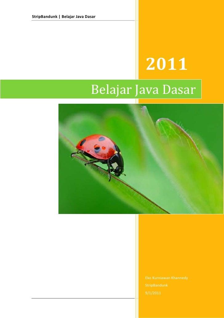 Belajar Java dasar