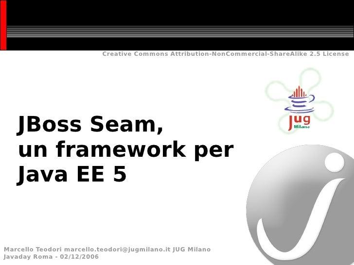 JBoss Seam, un framework per Java EE 5