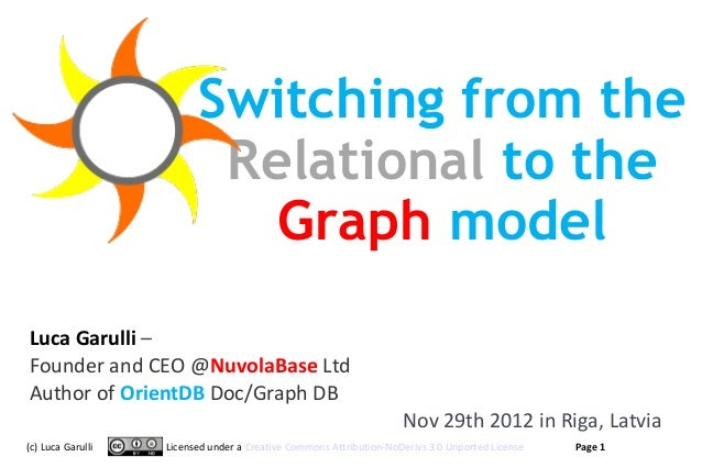Switching from the                          Relational to the                            Graph modelLuca Garulli –Founder ...