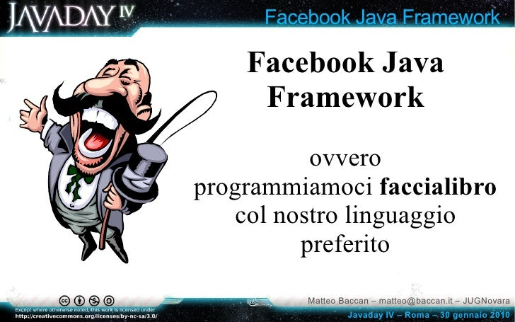 Javaday 2010: Facebook Java Framework