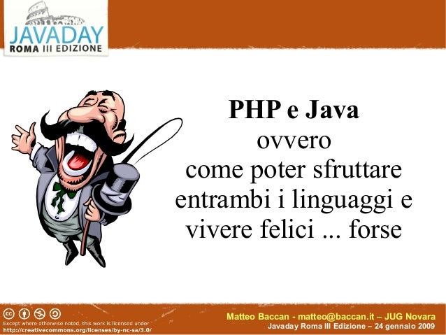 Javaday 2009 php e java