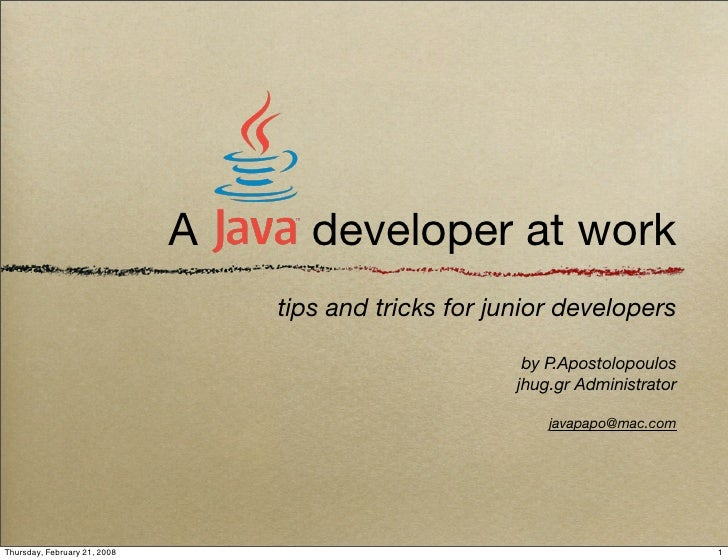 A      developer at work                                   tips and tricks for junior developers                          ...