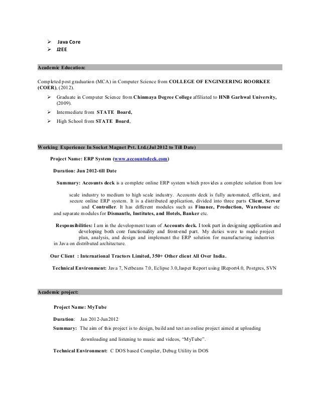 Java developer resume(1)