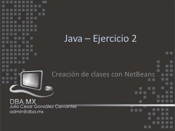 Java – ejercicio 2