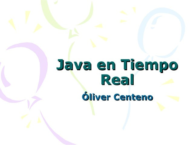 Java en Tiempo Real