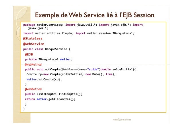 exemple de web service java