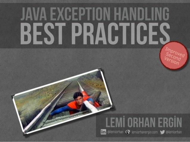 Java Exception Handling Best Practices - Improved Second Version