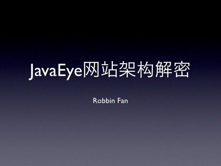 Java Eye Architecture