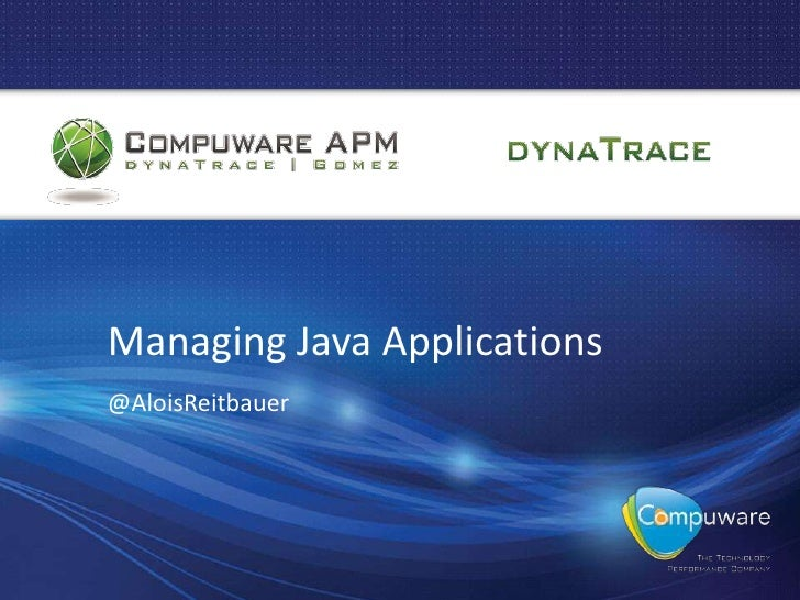Managing Java Applications@AloisReitbauer