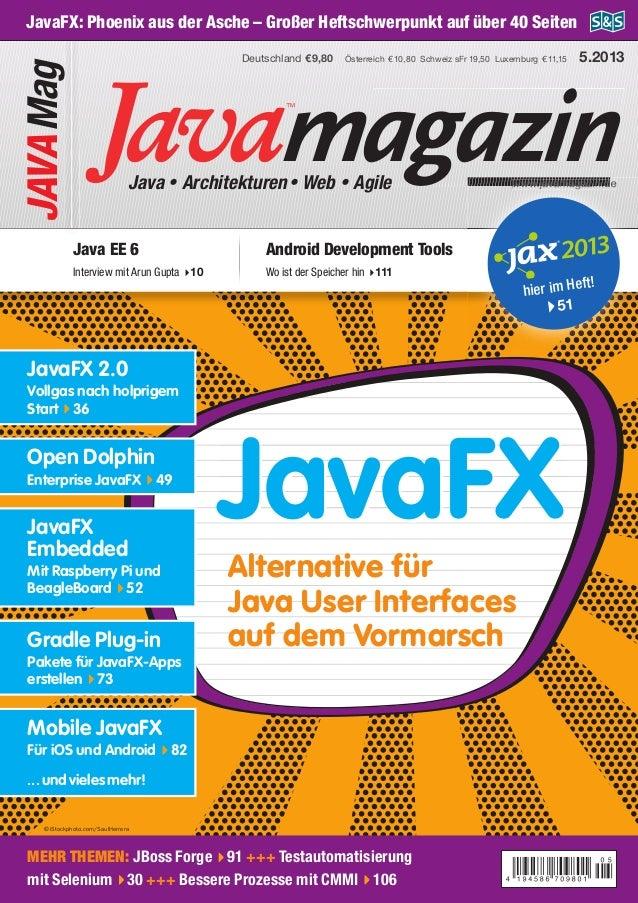 magazinJava • Architekturen• Web • Agile www.javamagazin.de Österreich €10,80 Schweiz sFr 19,50 Luxemburg €11,15Deutschlan...