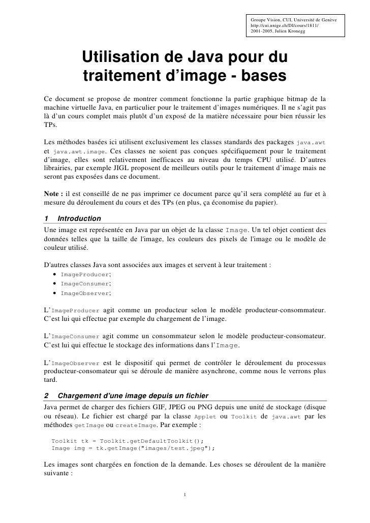 Groupe Vision, CUI, Université de Genève                                                                        http://cui...