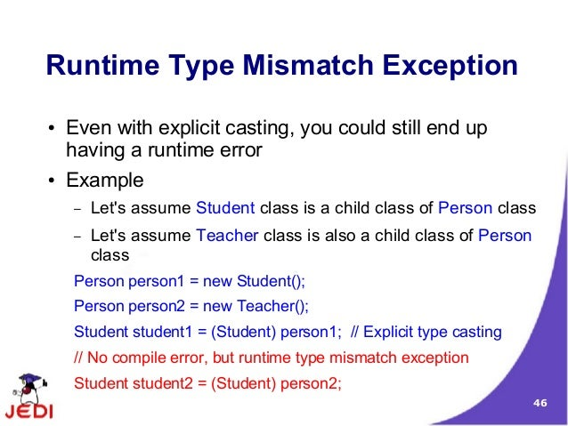 a Runtime Error ● Example