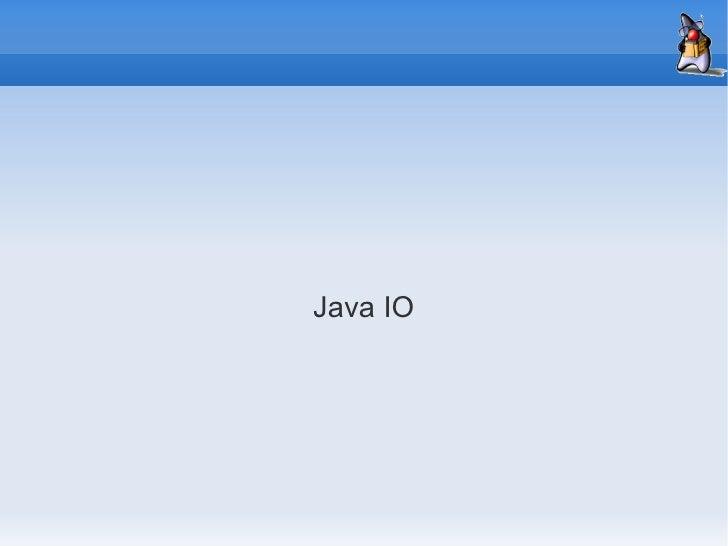Java IO