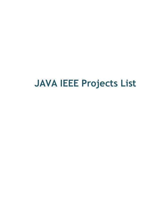 Java j2 ee ieee projects for cse in coimbatore