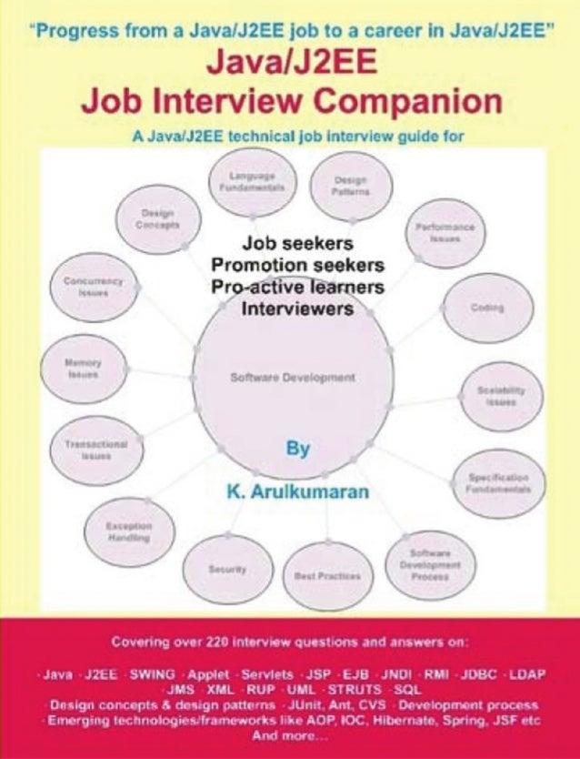 Java j2ee job interview companion ebook