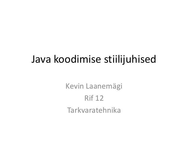 Java koodimise stiilijuhised