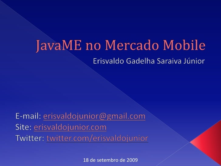 JavaMe no Mercado Mobile