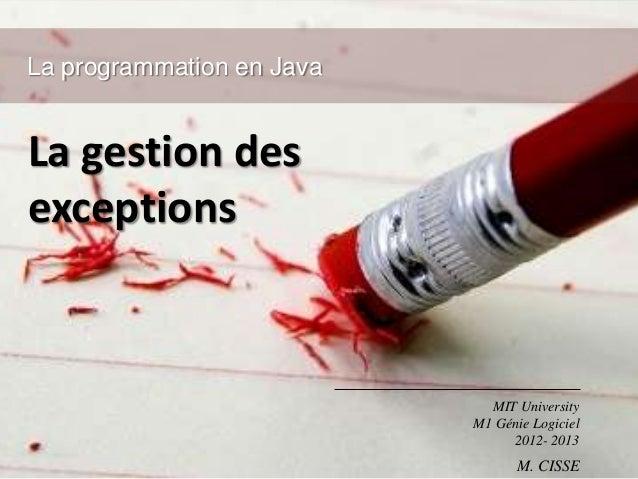La gestion des exceptions avec Java