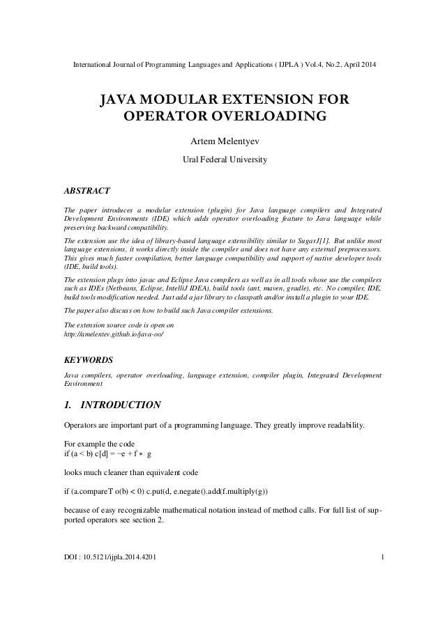 International Journal of Programming Languages and Applications ( IJPLA ) Vol.4, No.2, April 2014 DOI : 10.5121/ijpla.2014...
