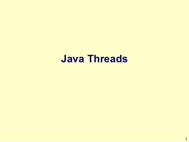 Java Threads               1