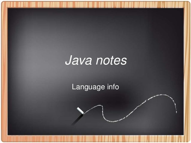 TKP notes for Java