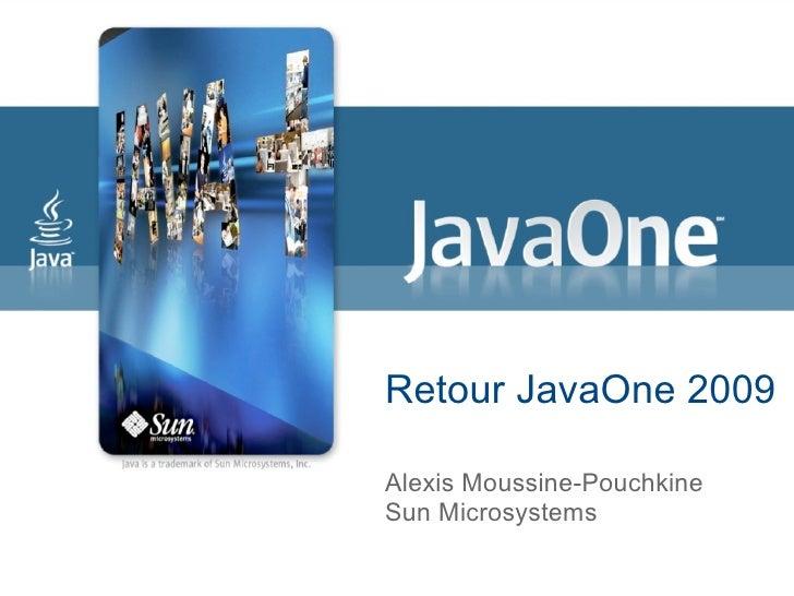 Retour JavaOne 2009