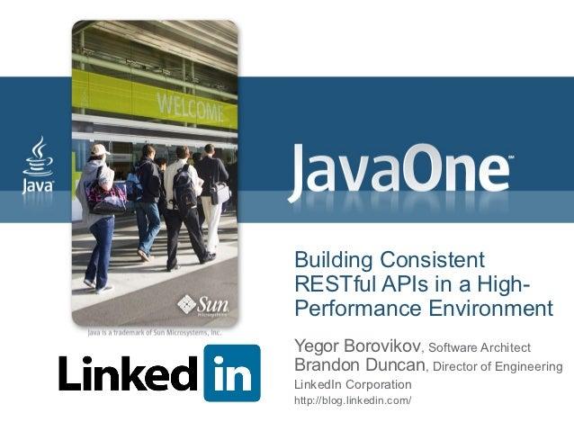 Javaone 2009 Building RESTful APIs
