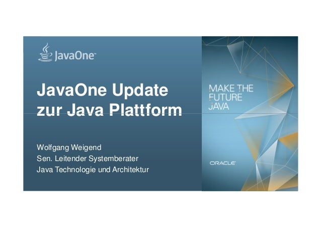 JavaOne Update zur Java Plattform