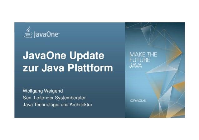 JavaOne Update zur Java Plattform